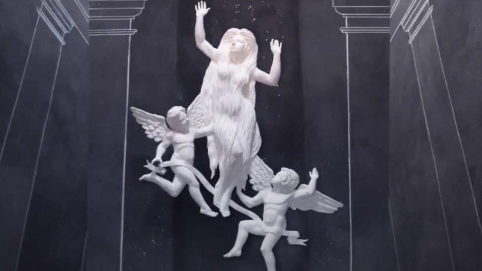 Satue encore intacte de sainte Marie-Madeleine de Saint-Pilon, Riboux