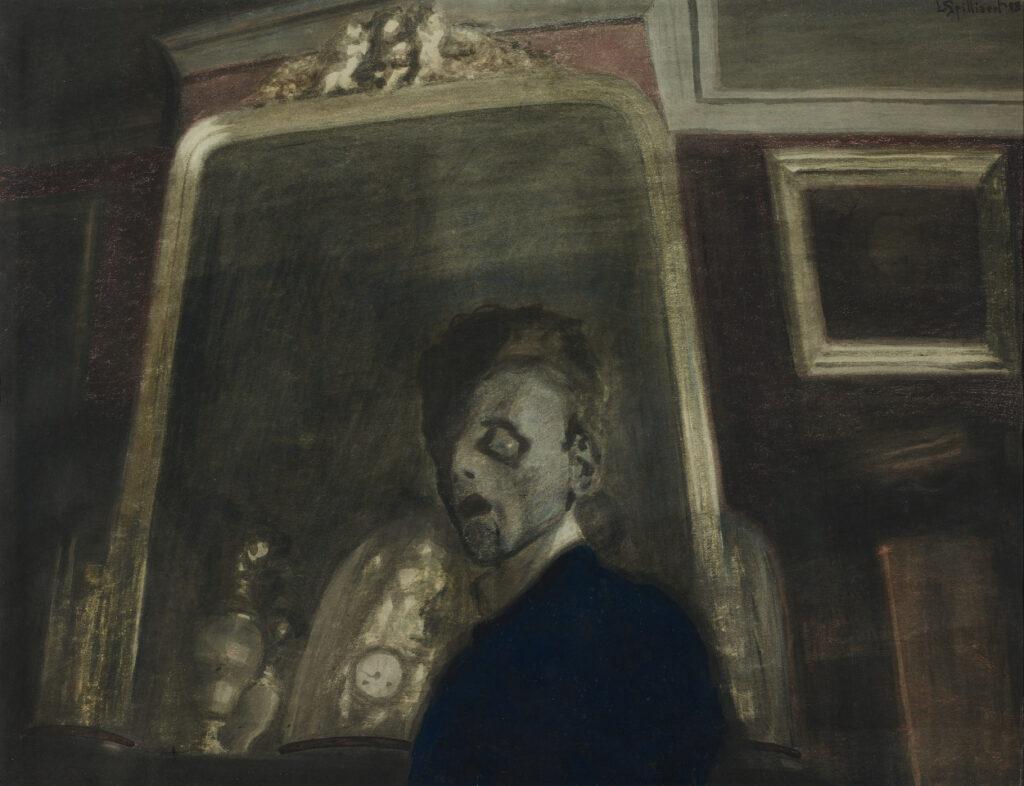 Léon Spilliaert, Autoportrait au miroir, 1908