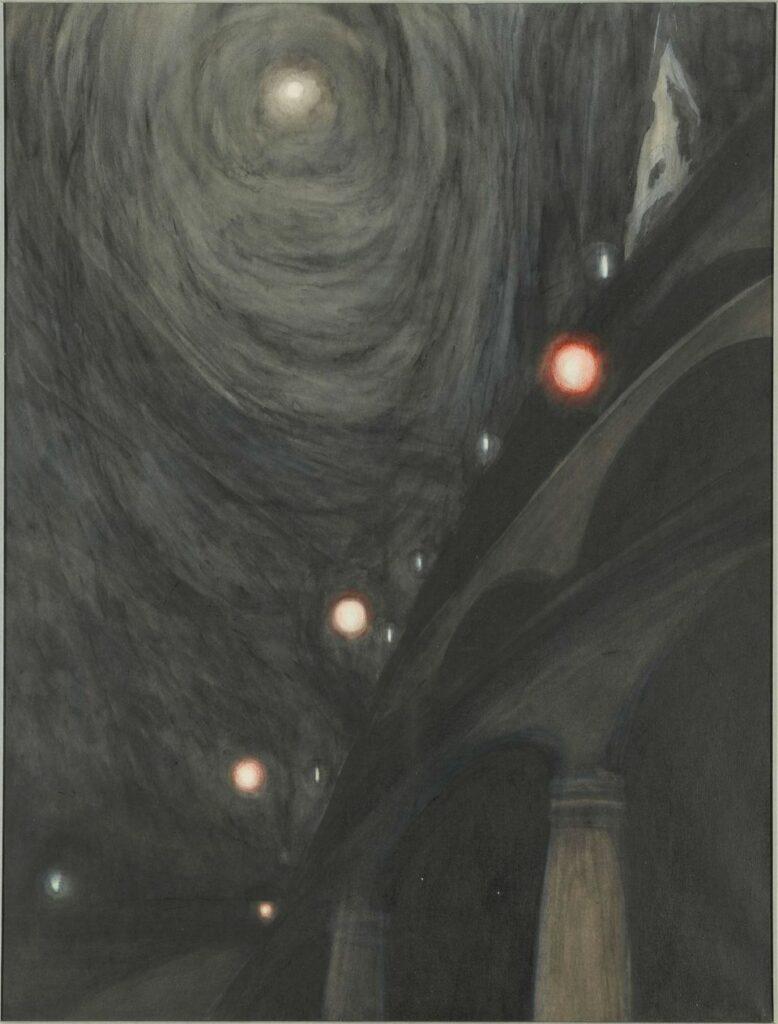 Léon Spilliaert, Clair de Lune et lumières, vers 1909