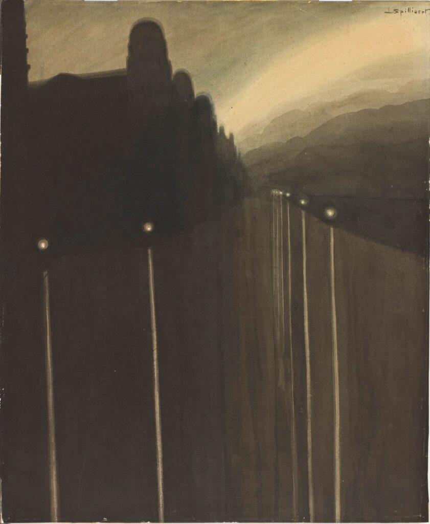 Léon Spilliaert, Digue la nuit, 1908