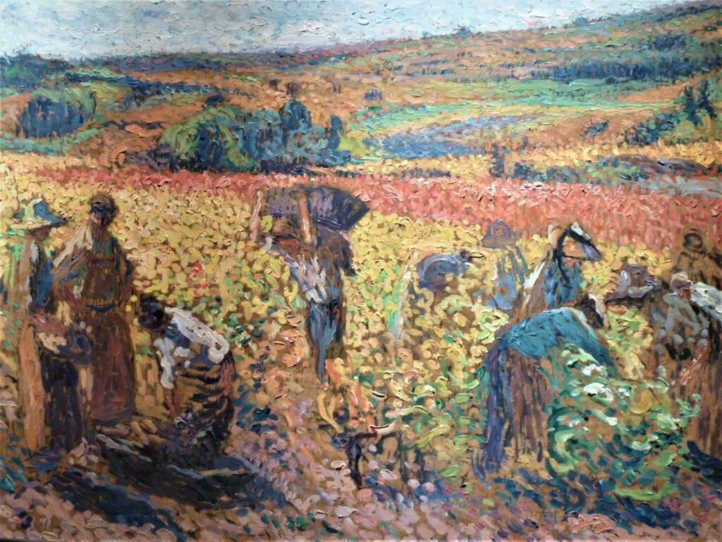 Vue de l'exposition Les derniers impressionnistes au Musée de Lodève