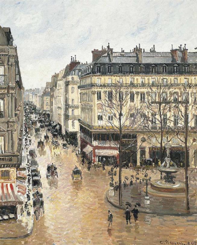 Camille Pissarro, Rue Saint-Honoré l'après-midi. Effet de pluie, 1897