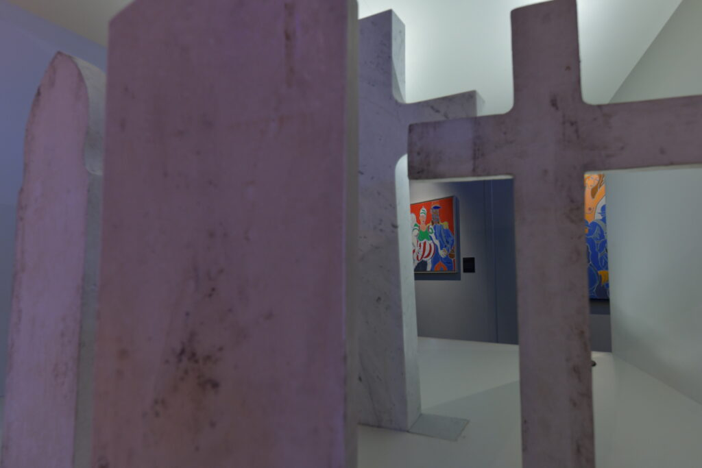Vue de l'exposition Requiem pour les Barthélemy - Musée de la Grande Guerre de Meaux