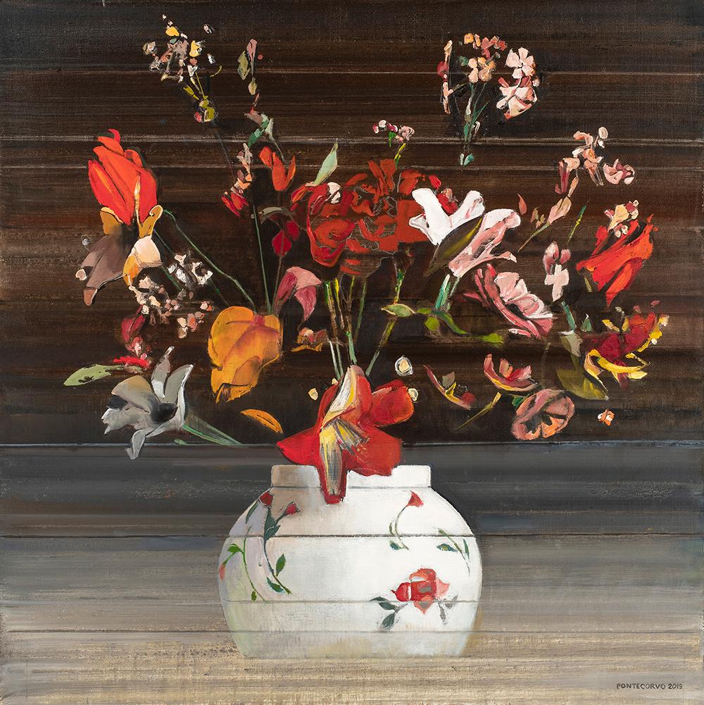Alain Pontecorvo, Abstraction florale (le bouquet de Louisette), 2020