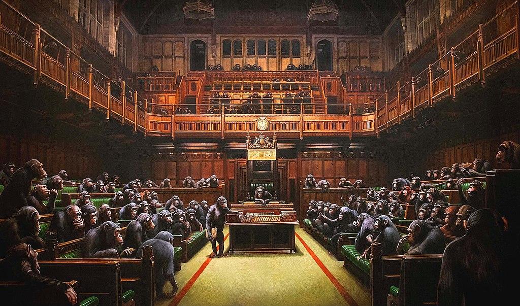 Banksy, Devolved Parliament, 2009