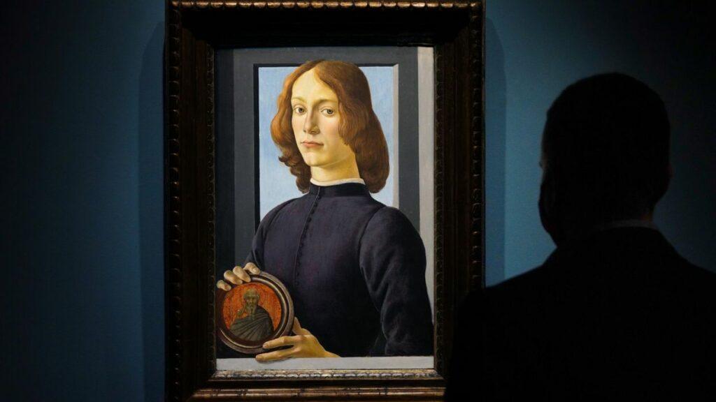 Sandro Botticelli, Homme au médaillon, vers 1470-1480