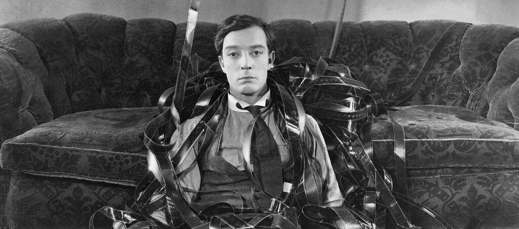 Buster Keaton dans Sherlock Junior, 1924