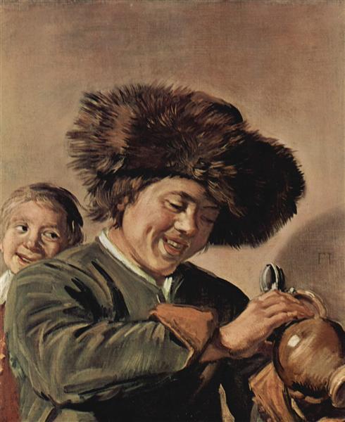 Frans Hals, Deux jeunes garçons riants, avec chope de bière, 1626