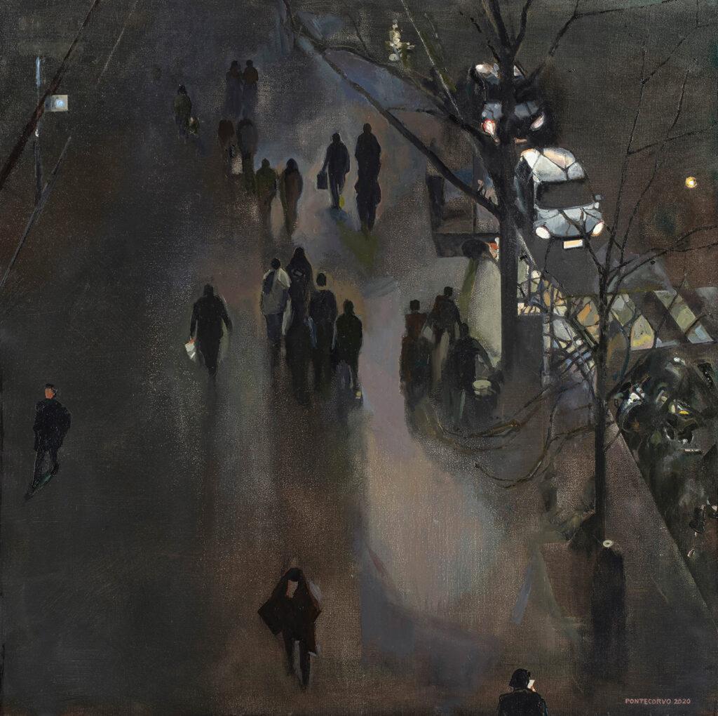 Alain Pontecorvo, Le boulevard un soir d'hiver, 2020