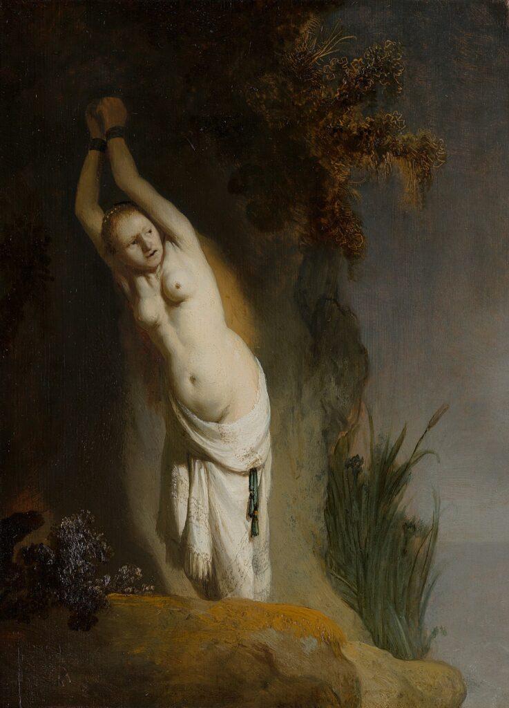 Rembrandt, Andromède enchaînée, 1631