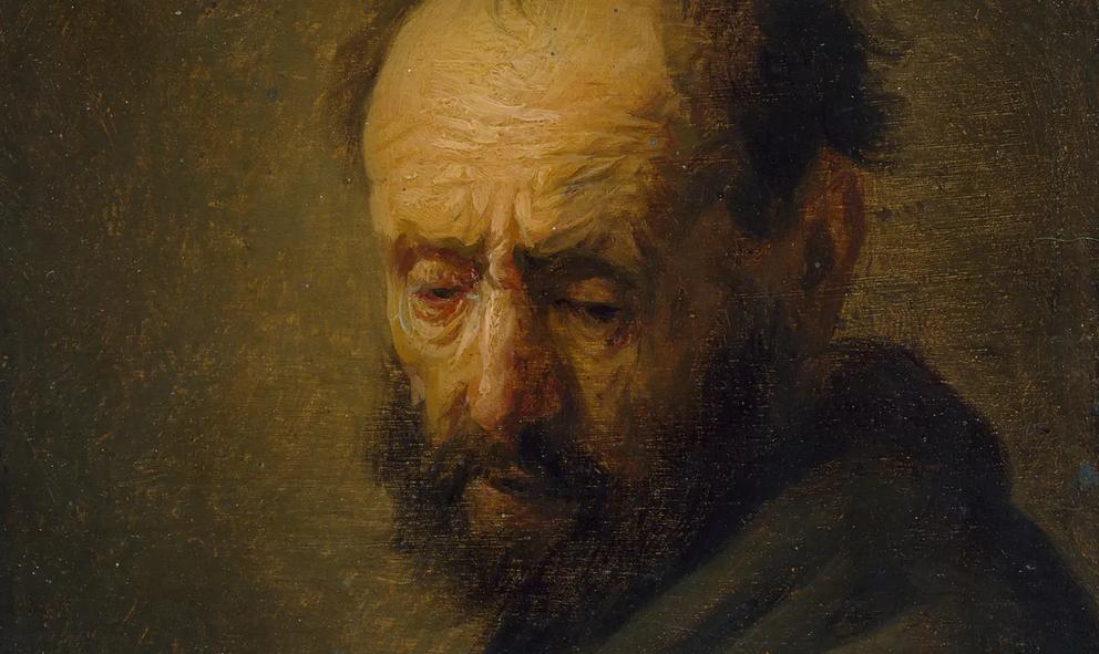 Rembrandt, Tête d'un homme barbu, vers 1630 (détail)