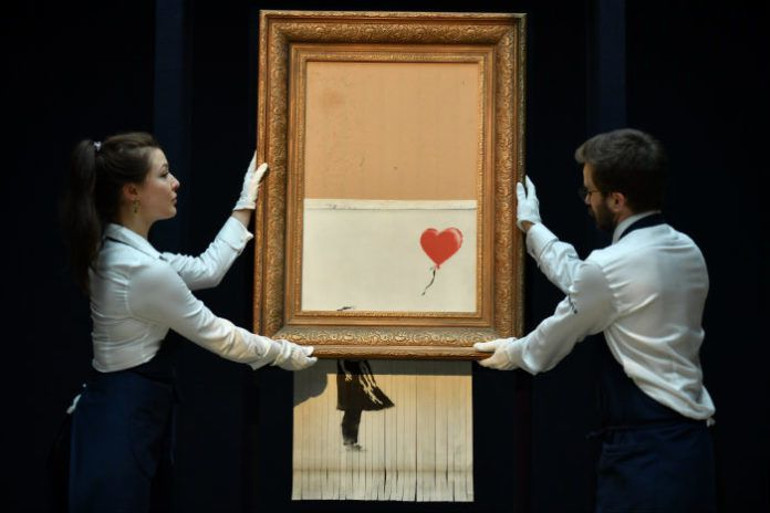 Banksy, Petite Fille au ballon rouge, 2018