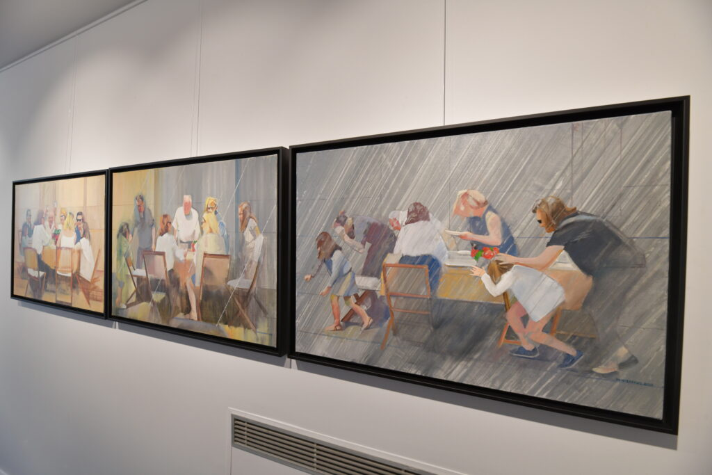 Vue de l'exposition Alain Pontecorvo à la Galerie de l'Europe