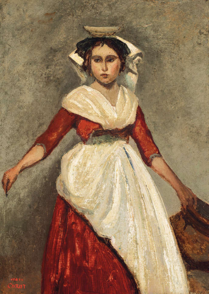 Camille Corot, Italienne debout tenant une cruche