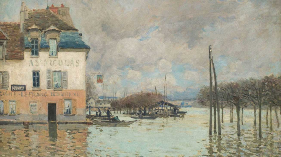 Alfred Sisley, L'Inondation à Port-Marly, 1876