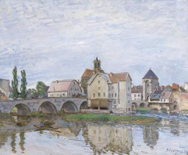 Alfred Sisley, Moret-sur-Loing – Temps gris, vers 1892