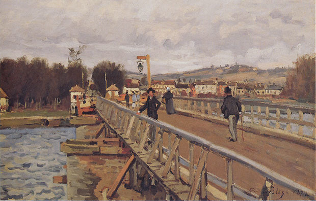 Alfred Sisley, Passerelle d'Argenteuil, 1872