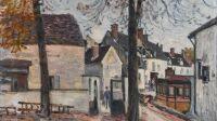Alfred Sisley, Rue des Fossés, faubourg du Pont à Moret-sur-Loing, 1882