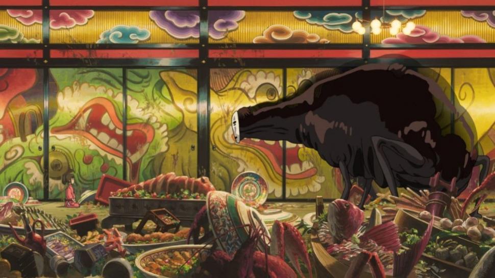 La scène du Voyage de Chihiro qui a été sélectionnée pour le projet