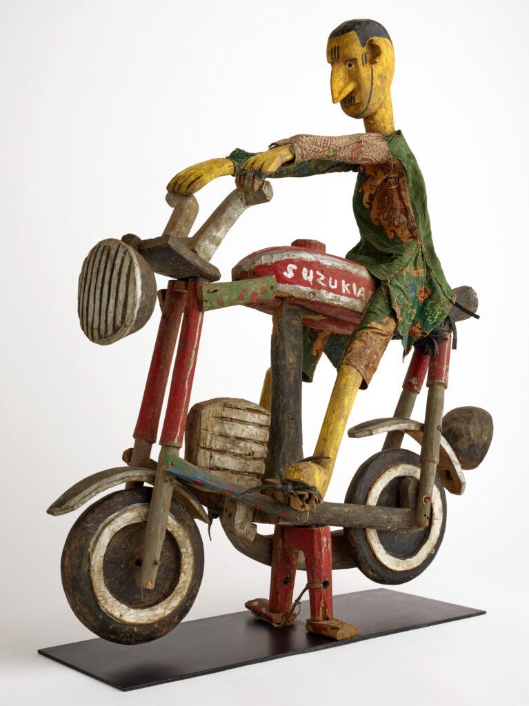 Marionnette, motard, Fin du 20e siècle, Mali, culture bozo, malinké ou bamana