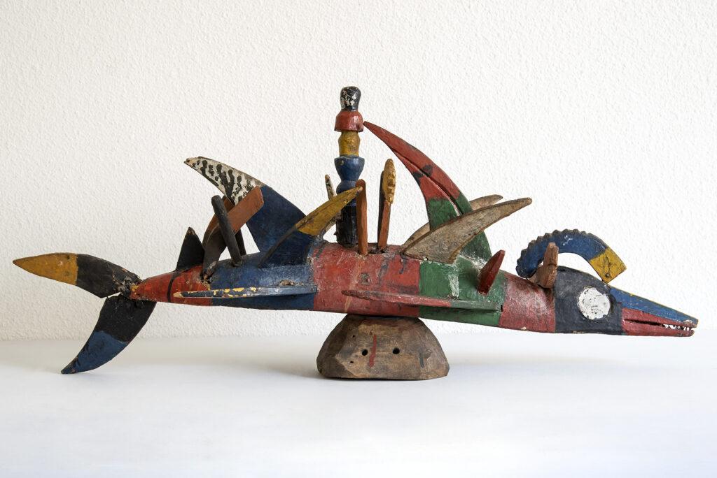 Masque poisson, Seconde moitié du 20e siècle, Nigeria, delta du Niger