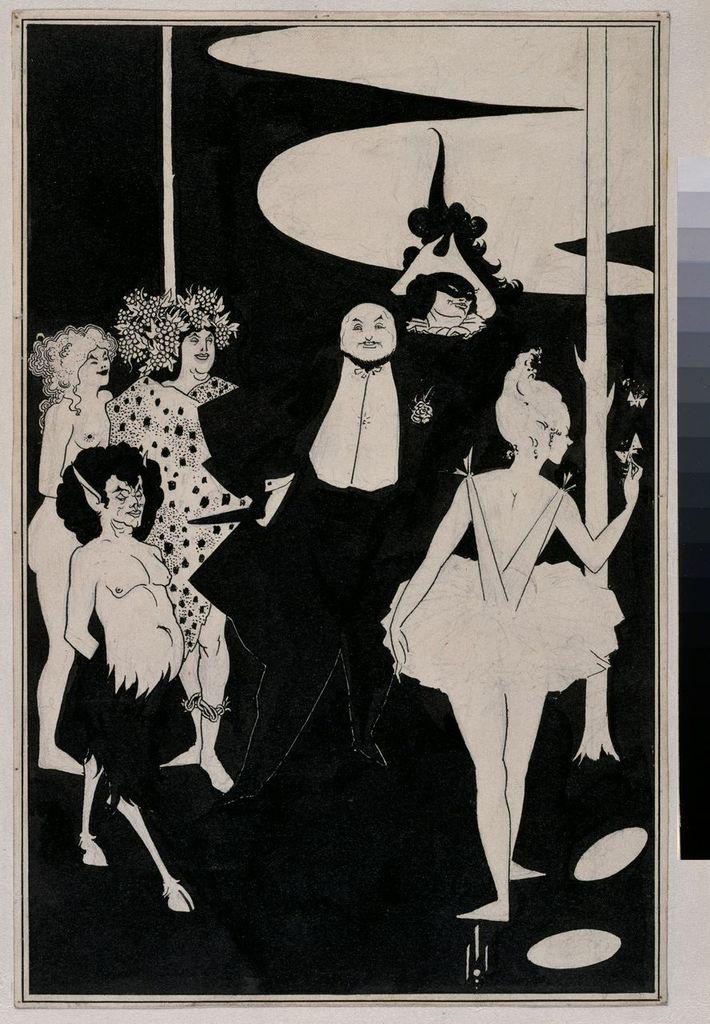 Aubrey Beardsley (1872-1898) Projet pour le frontispice des pièces de John Davidson