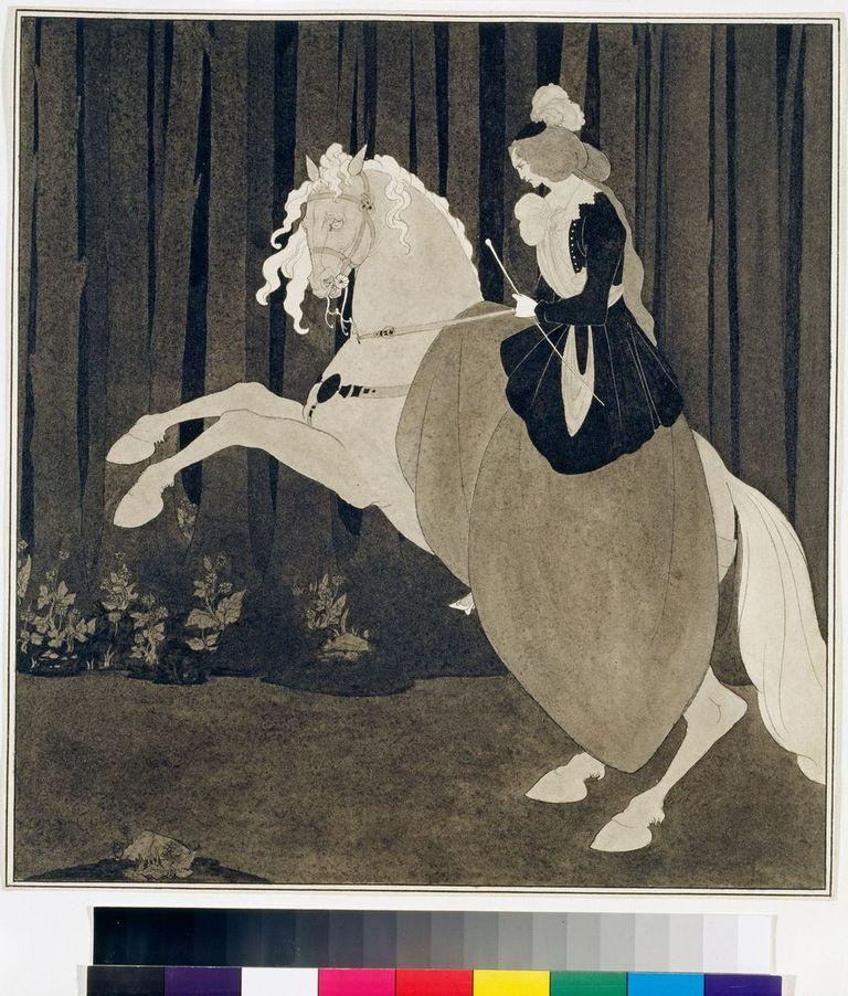 Aubrey Beardsley (1872-1898) Frontispiece to Chopin's Third Ballade