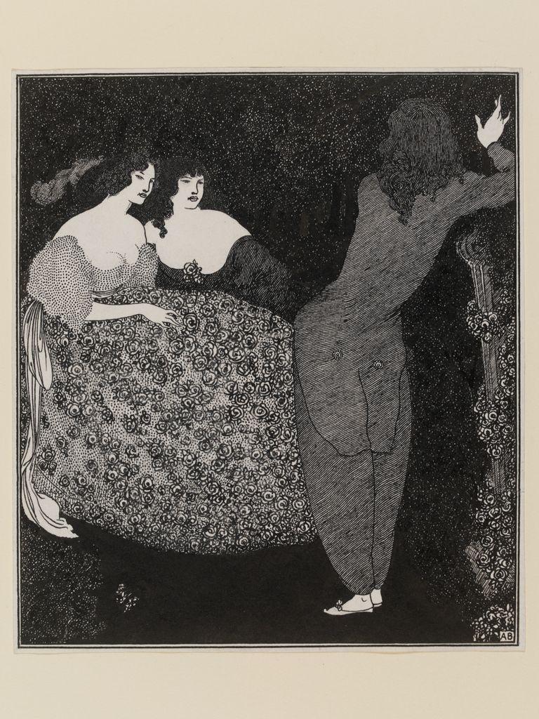 Aubrey Beardsley (1872-1898), Tristan und Isolde, 1896