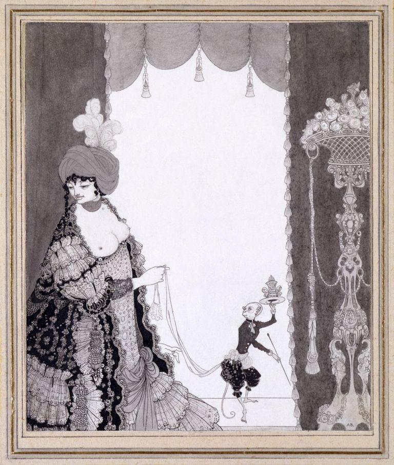Aubrey Beardsley (1872-1898) The, Lady with the Monkey, 1897