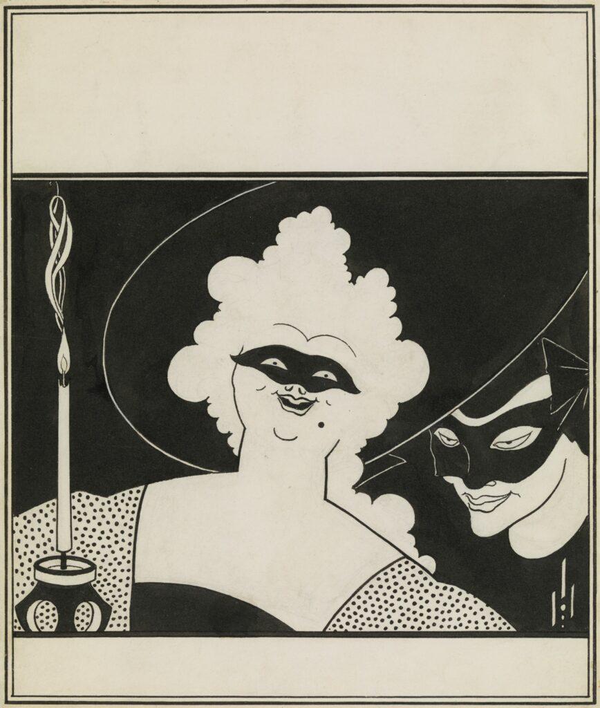 """Aubrey Beardsley (1872-1898) Projet de couverture de """"Yellow Book"""""""
