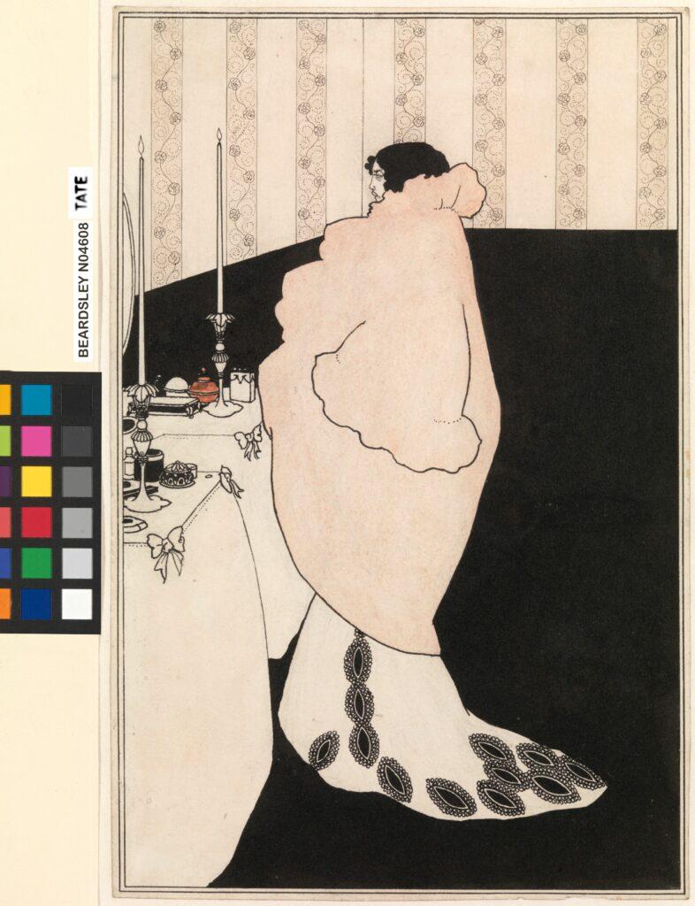 Aubrey Beardsley (1872-1898), La Dame aux camélias, 1894