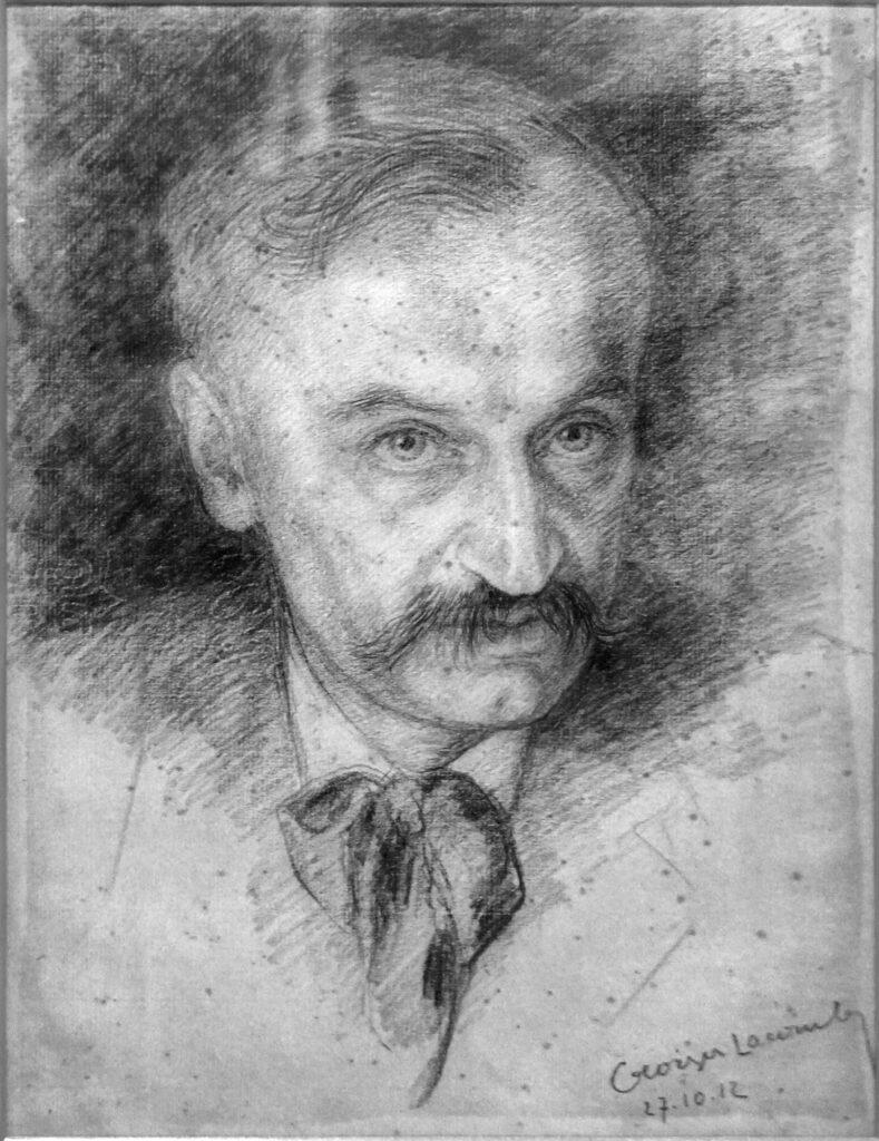 Georges Lacombe, Portrait de Léopold Chauveau, 1912