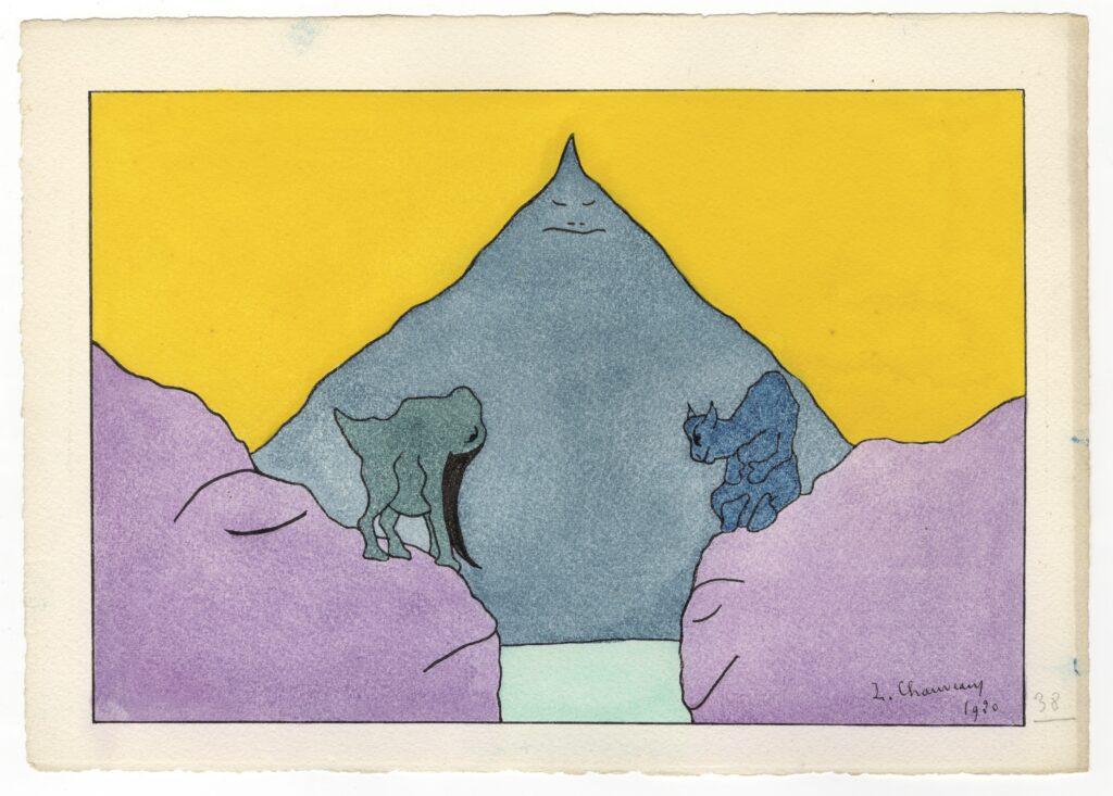 Léopold Chauveau, Paysage monstrueux n°38, 1920
