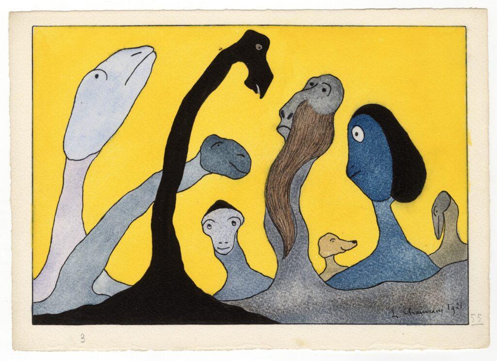 Léopold Chauveau, Paysage monstrueux n°55, 1921