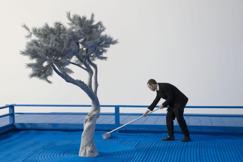 Daniel Arsham Blue Zen Garden (detail), 2017