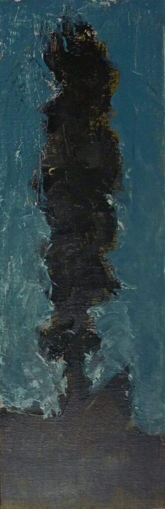 Hadjiganev, Peuplier à l'aube (60x20cm)