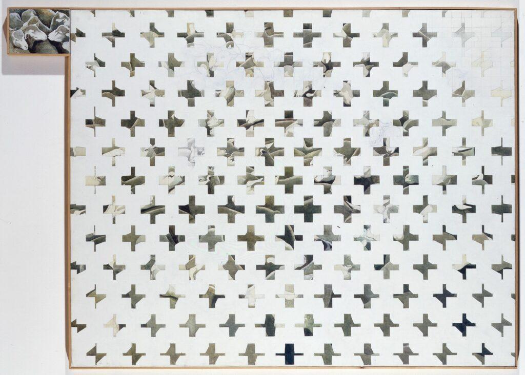 Henri Cueco, Claustras avec moutons, 1976