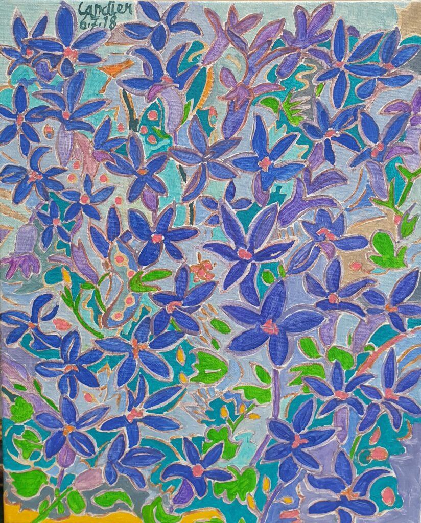 Henri Landier, Fleurs bleues
