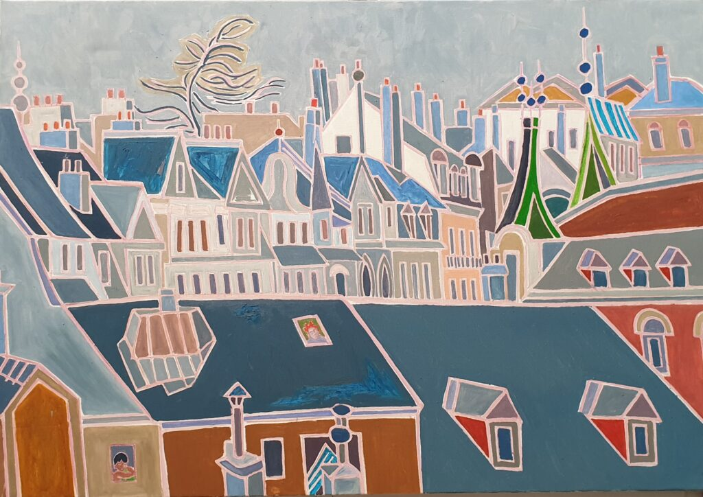 Henri Landier, Les toits bleus, 2019