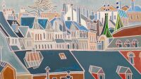 exposition-henri-landier-art-lepic-Les toits bleus, 2019