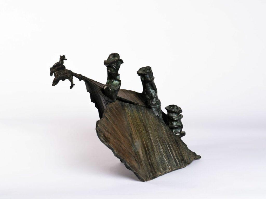 Ipoustéguy, A Ambrose Bierce, bronze, 1997