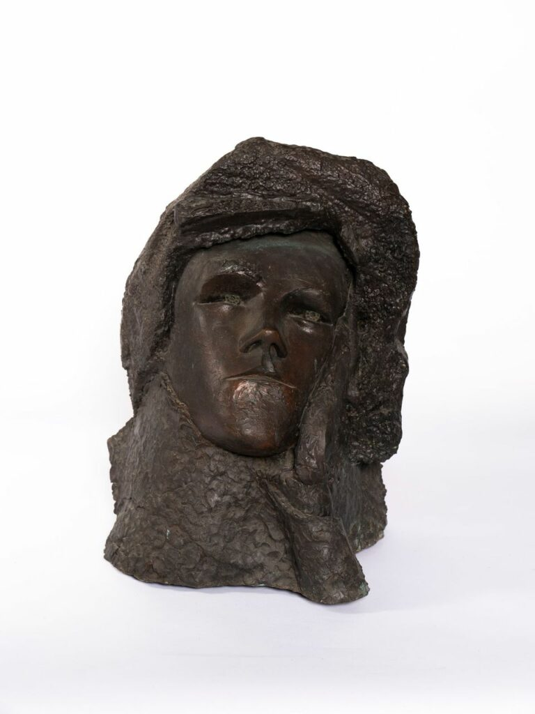 Ipoustéguy, Visage de Rimbaud, bronze, 1984