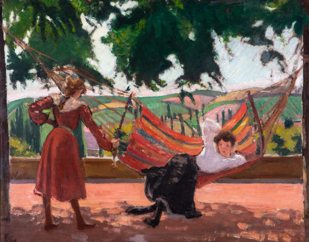 Jean PUY, Le Hamac à Saint-Alban, vers 1904