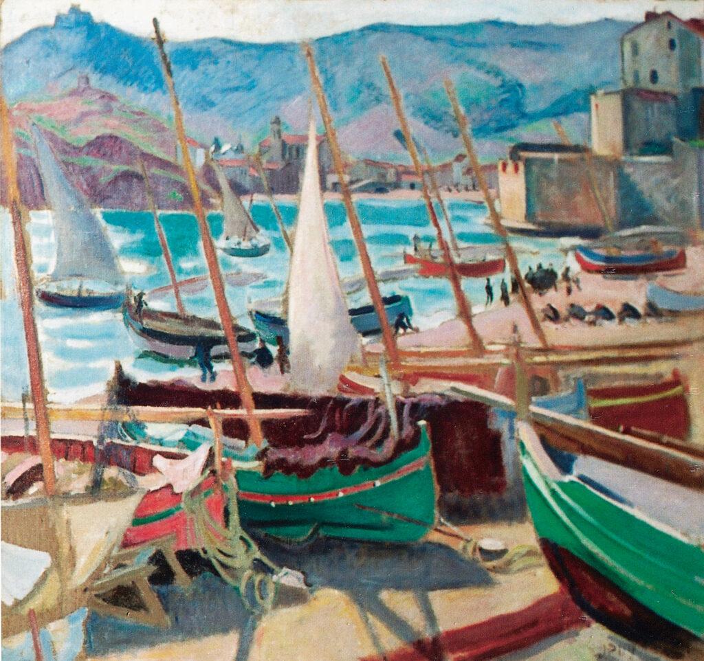 Jean PUY, Barques vertes à Collioure, 1913