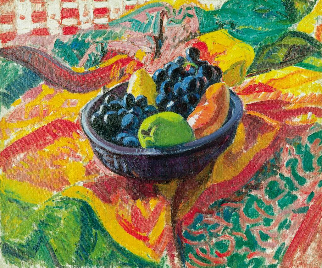 Jean PUY, Nature morte au compotier et aux grappes de raisins , 1912
