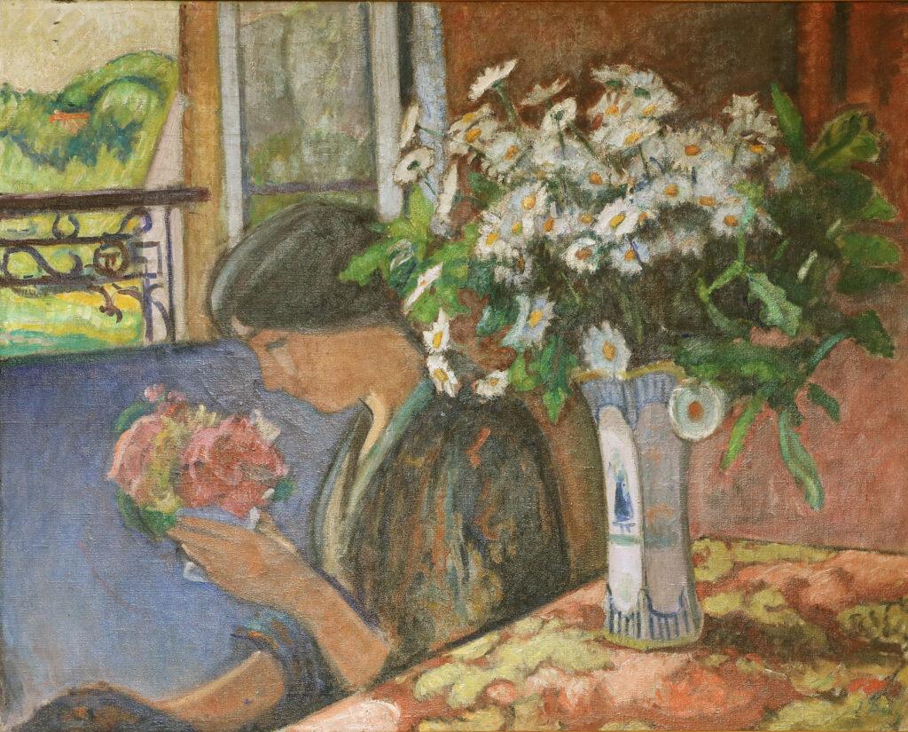 Jean PUY, Madame Jean Puy au bouquet de fleurs , 1908