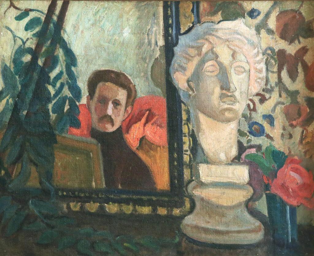 Jean PUY, Autoportrait et tête de plâtre , 1908
