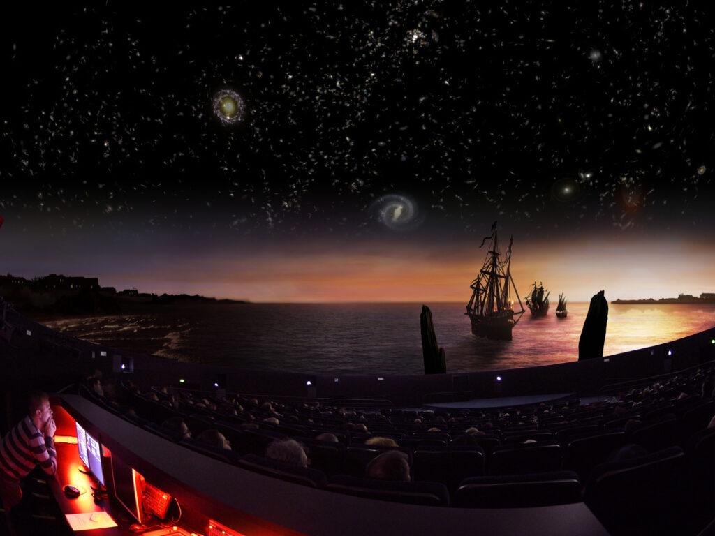 Vue du spectacle « Histoire d'Astronomie, le ciel au Moyen Âge »