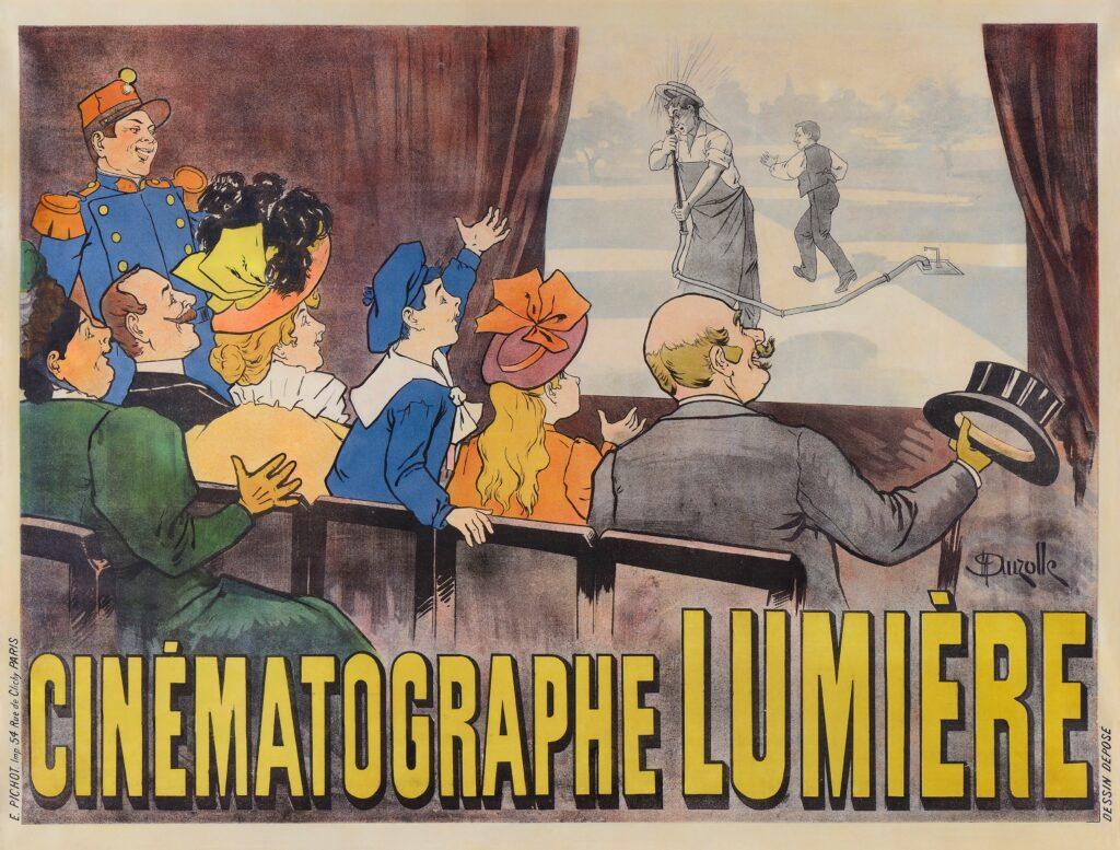 Deuxième affiche du Cinématographe par Auzolle, 1896