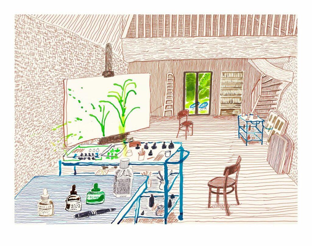 David Hockney, In the Studio, 2019